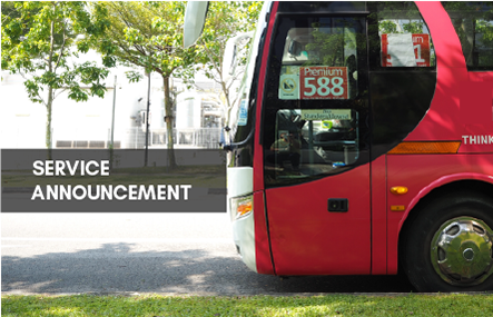 Premium bus services will remain suspended till further notice