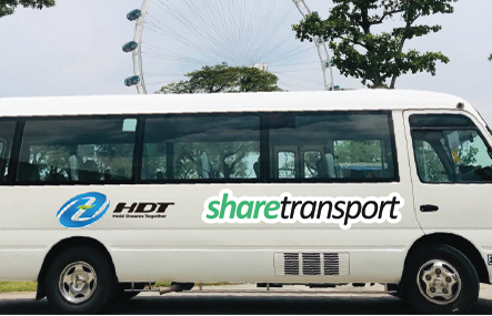 SHARETRANSPORT TEAMS UP WITH HDT SINGAPORE TO RUN ON DEMAND SHUTTLE SERVICES