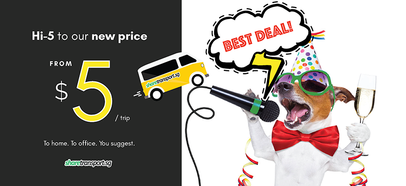 Hi-5 with ShareTransport new price!