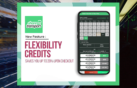 Introducing a new Credit System to Sharetransport Bus Passes for all your favourite bus routes!