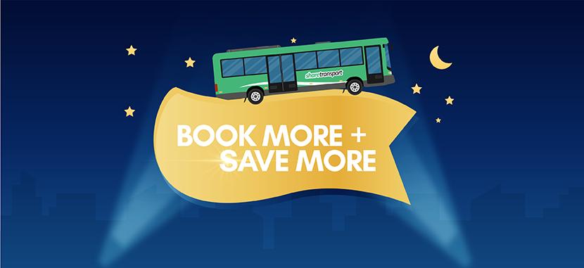 Book more, save more for ShareTransport Evening Bus Pass