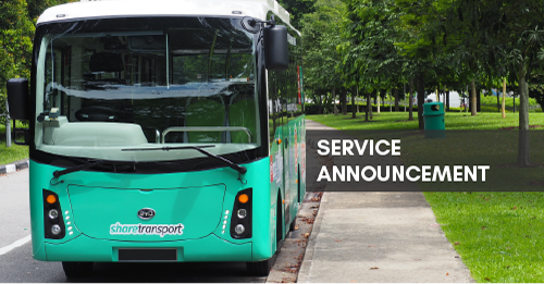 ShareTransport Services Set to Resume on 2 June