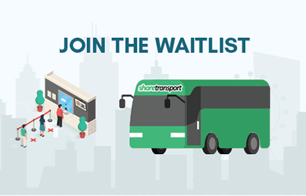 Join the waitlist to resume your ShareTransport Route