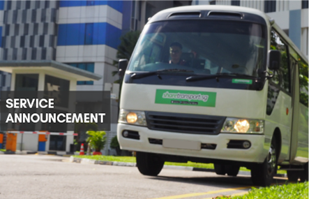 ShareTransport Services Update From 12th April 2021