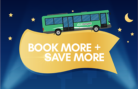 Book more, save more for ShareTransport Evening Bus Pass