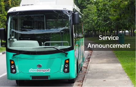 Temporary Suspension of ShareTransport Bus Services